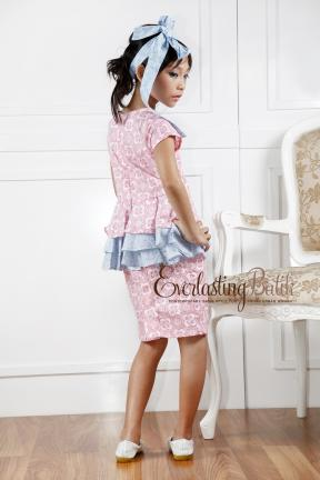 AN.20041 Nicole Kids Dress  2/3y 4/5y 6/7 y