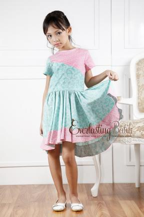 AN.20042 Ashley Batik kids dress   2/3y