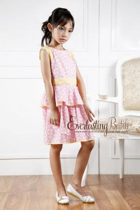 AN.20048 Anastasia Batik Kids Dress  2/3y 10/11y