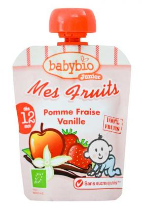 Babynat My Fruits Apple Strawberry Vanilla (12)	90g