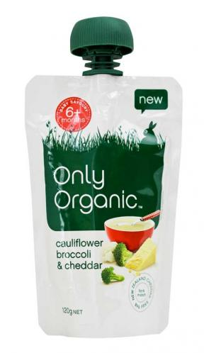 Only Organic Cauliflower Brocoli & Cheddar (6mths+)	120g