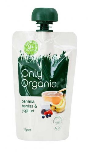 Only Organic Banana Berries & Yoghurt 120g