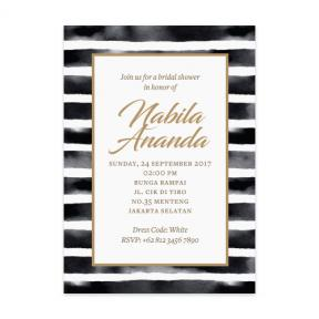 Watercolor Stripes (Bridal Shower Set of 6)