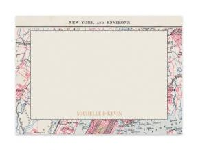 Vintage Map City (Note Cards Set of 6)