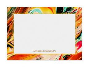 Marbleized Crimson (Note Cards Set of 6)