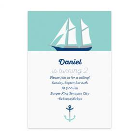 Sailboat (Kids Birthday Set of 6)