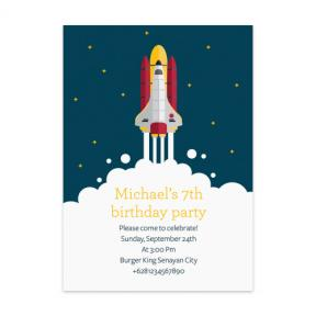 Space Shuttle (Kids Birthday Set of 6)