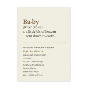 Noun (Baby Shower Set of 6)