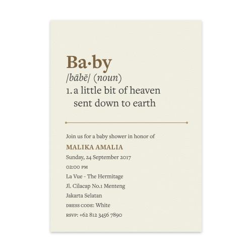 Papermark noun baby shower set of 6 stopboris Choice Image
