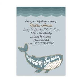 Whalecome (Baby Shower Set of 6)