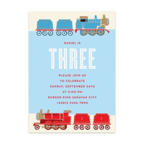 Choo Choo Train (Kids Birthday Set of 6)