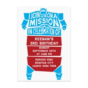 Robot Mission (Kids Birthday Set of 6)