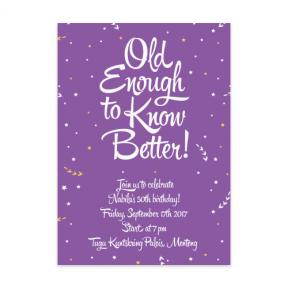 Old Enough (Adult Birthday Set of 6)
