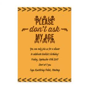 Dont Ask (Adult Birthday Set of 6)