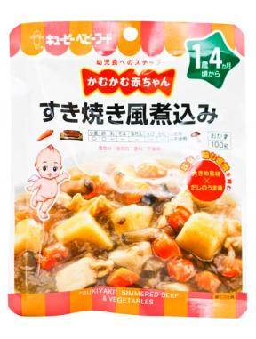 Kewpie Sukiyaki Simmered Beef & Vegetables (16mth+) 100g