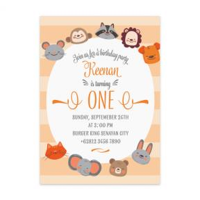 Animal Party (First & Babies Set of 6)