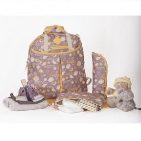 Freckles Backpack Yellow/Grey Bird