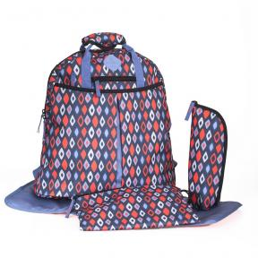 Freckles Backpack Blue/Red Rombe