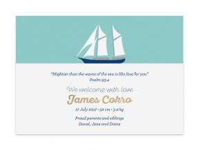 Sailboat (Baby Announcement Set of 6)