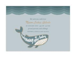 Whalecome (Baby Announcement Set of 6)