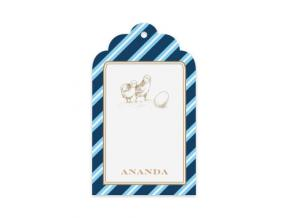 Natty Stripes (Gift Tag Set of 12)