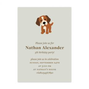 Short Beagle (Kids Birthday Set of 6)