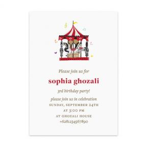Musical Carousel (Kids Birthday Set of 6)