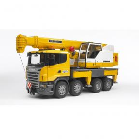 Bruder 3570 Scania R-Series Liebherr Crane Truck with Light & Sound Module