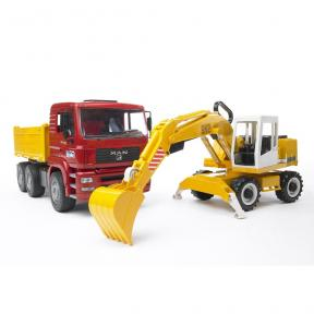 Bruder Toys 2751 - MAN TGA Construction Truck and Liebherr Excavator