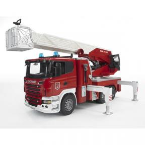 Bruder Toys 3590 - Scania R-Series Fire engine, slewing ladder, waterpump + L&S Module