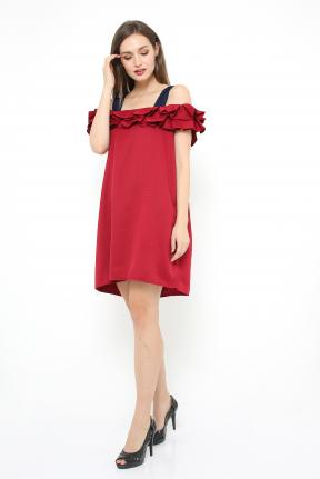 Saphira Dress in maroon