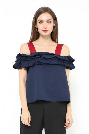 saphira top in navy