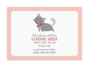 Soft Kitty (Baby Announcement Set of 6)