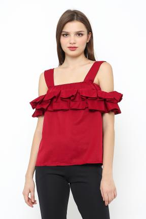 saphira top in all maroon