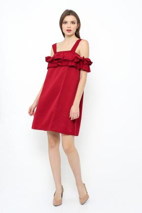 Saphire Dress in all maroon