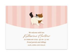 Happy Kitty (Baby Announcement Set of 6)