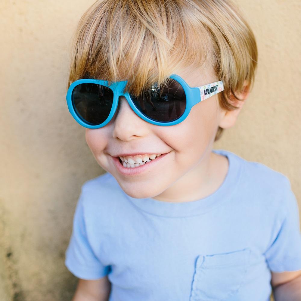 Babiators Wheel Deal Polarized Classic Ages 3 5 Sunglasses True Blue 7