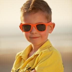 Real Shades Toddler 2+ Surf NEON ORANGE WAYFARER Sunglasses