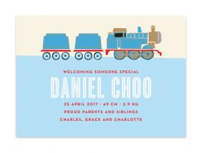 Choo Choo Train (Baby Announcement Set of 6)