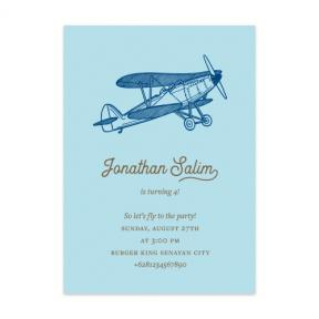 Vintage Airplane (Kids Birthday Set of 6)
