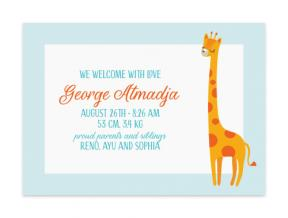 Grande Giraffe (Baby Announcement Set of 6)