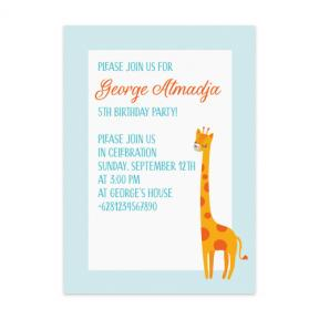 Grande Giraffe (Kids Birthday Set of 6)