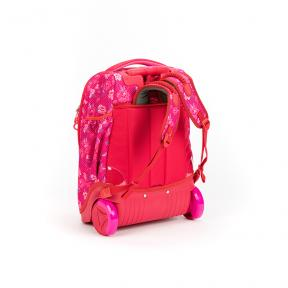 Stardust 2 in 1 Backpack and Trolley Pink Flower