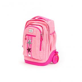 Stardust 2 in 1 Backpack and Trolley Pink Star