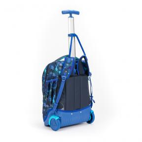 Stardust 2 in 1 Backpack and Trolley Blue Dinosaur