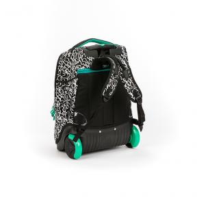 Stardust 2 in 1 Backpack and Trolley Black with White Waves