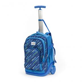 Stardust 2 in 1 Backpack and Trolley Blue with Arrow