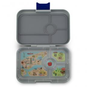 Yumbox Tapas Flat Iron Gray 4C NYC Tray