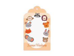 Animal Party (Gift Tag Set of 12)