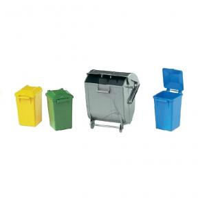 Bruder Toys 2607 - Garbage Can Set (3 Small 1 Large)